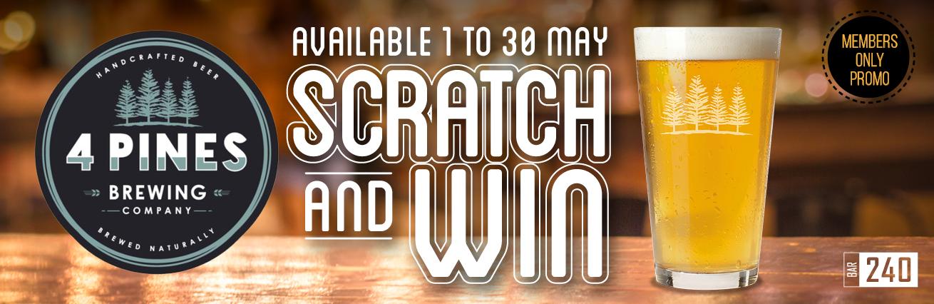 4 Pines Scratch & WIN